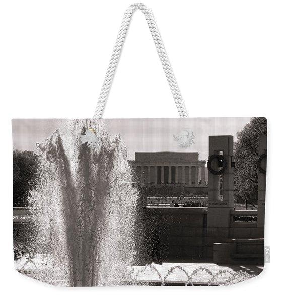 World War II Memorial Fountain Weekender Tote Bag