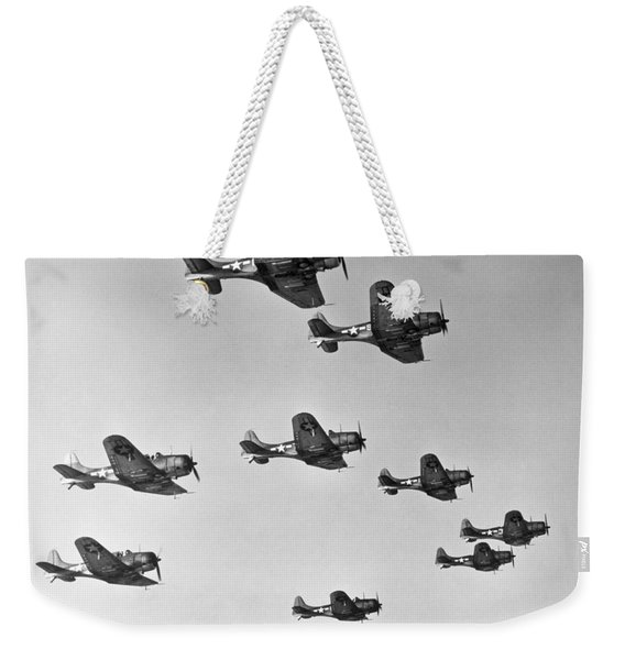 World War II - U.s. Bombers Weekender Tote Bag
