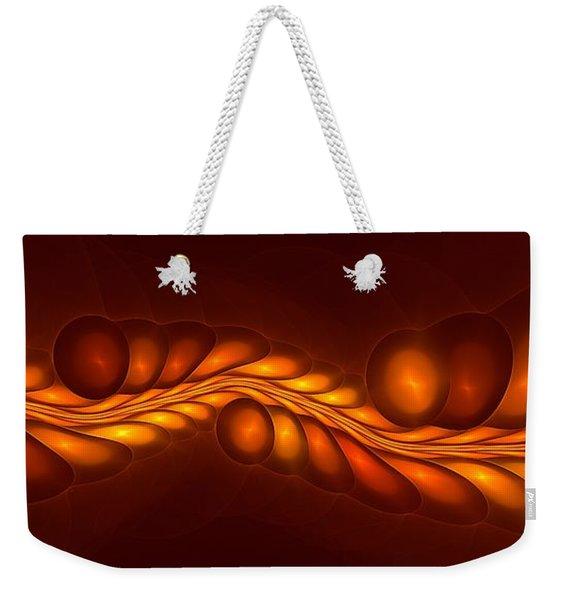 Worm Sign Orange Weekender Tote Bag