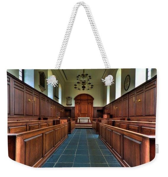 Wren Chapel Interior Weekender Tote Bag