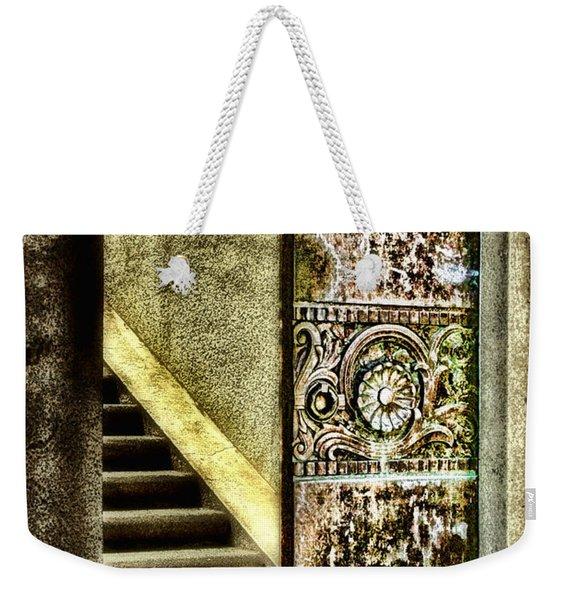 Wrigley's Tower Bronze Doors By Diana Sainz Weekender Tote Bag