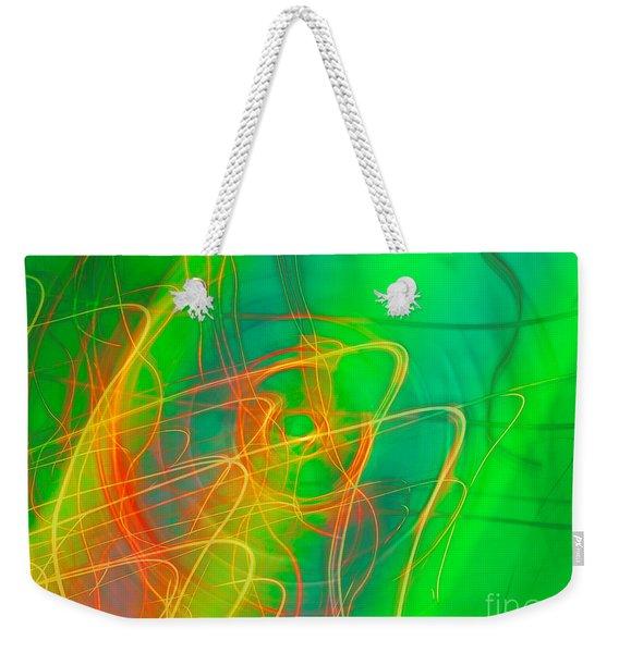 Write Light Rainbow Weekender Tote Bag