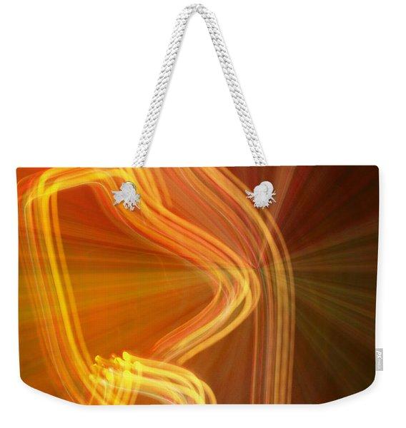 Write Light Shapes Weekender Tote Bag