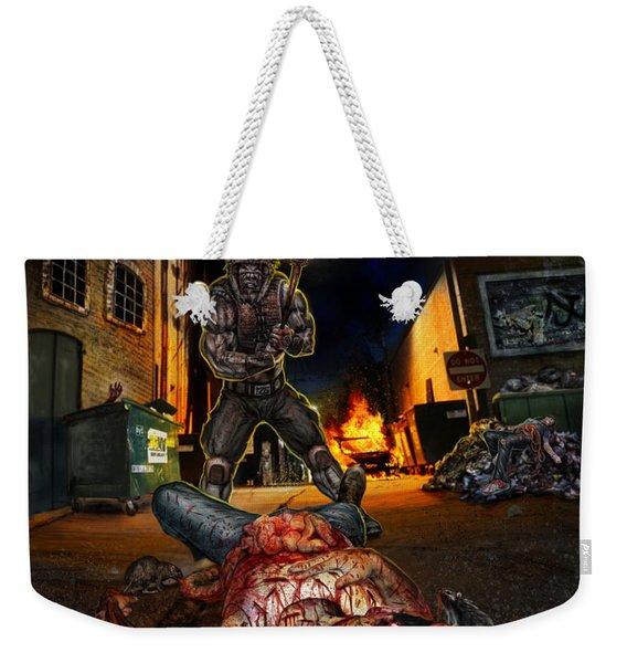 Wrong Turn Weekender Tote Bag