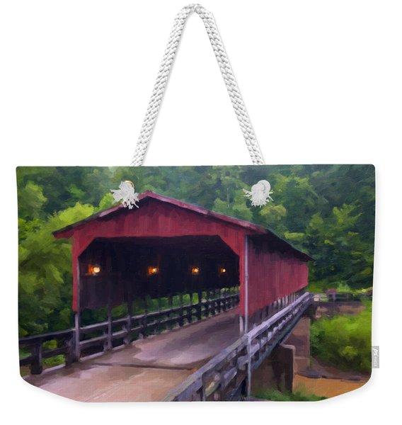 Wv Covered Bridge Weekender Tote Bag
