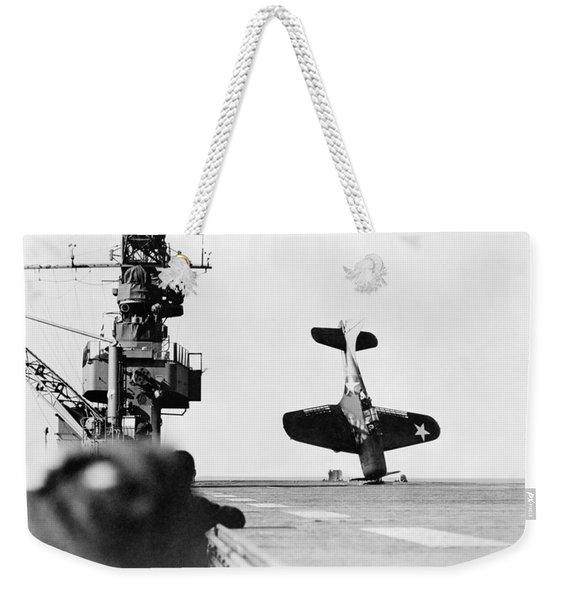 Wwii Crash Landing, 1943 Weekender Tote Bag
