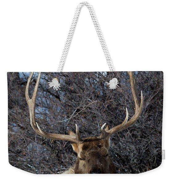 Wyoming Elk Weekender Tote Bag