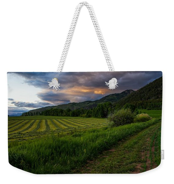 Wyoming Pastures Weekender Tote Bag