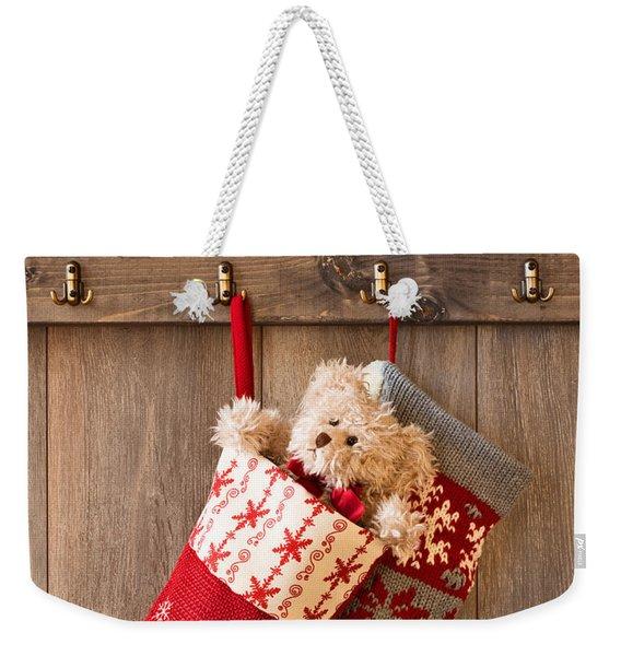 Xmas Stockings Weekender Tote Bag