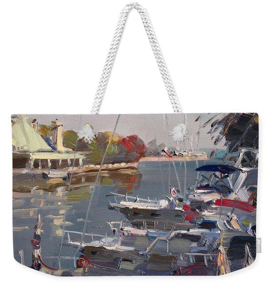 Yachts In Port Credit  Weekender Tote Bag