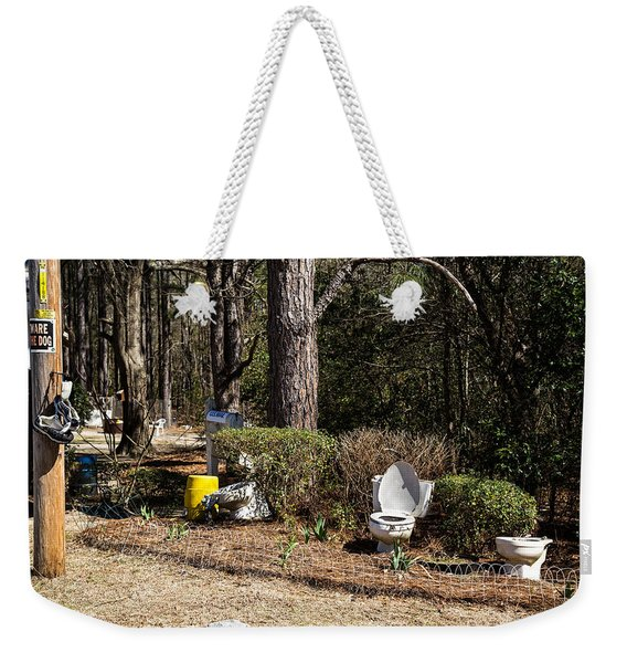 Yard Art Hwy 21 South Weekender Tote Bag