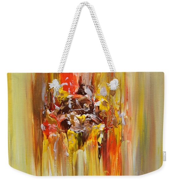 Yellow Abstract Landscape Weekender Tote Bag