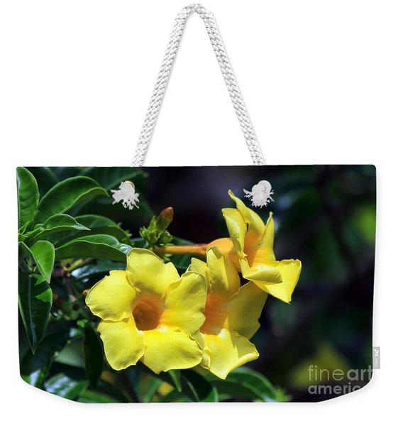 Yellow Allamanda Weekender Tote Bag