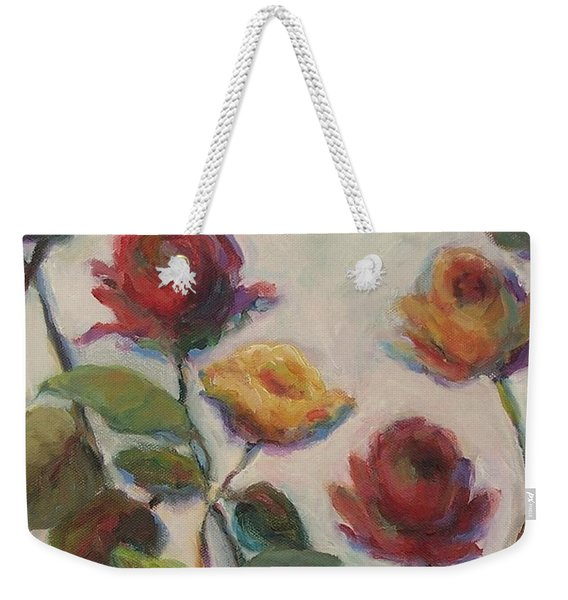 Yellow And Red Roses  Weekender Tote Bag