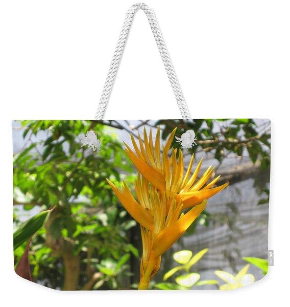 Yellow Bird Of Paradise Weekender Tote Bag