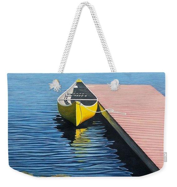 Yellow Canoe Weekender Tote Bag