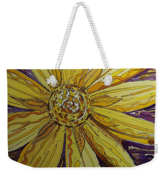 Yellow Chakra Weekender Tote Bag