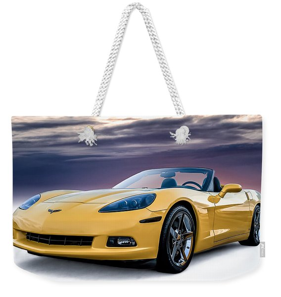 Yellow Corvette Convertible Weekender Tote Bag