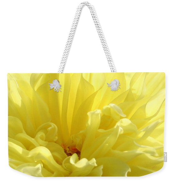 Yellow Dahlia Burst Weekender Tote Bag