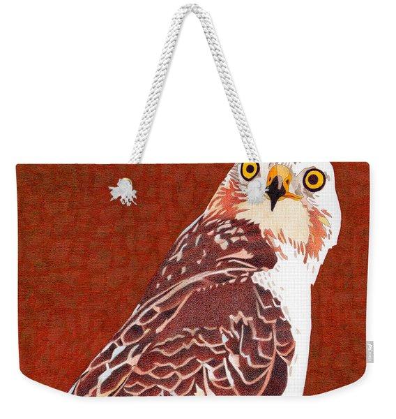 Yellow Eyed Hawk Weekender Tote Bag