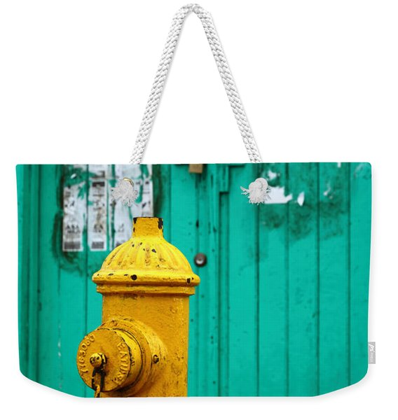 Yellow Fire Hydrant Weekender Tote Bag