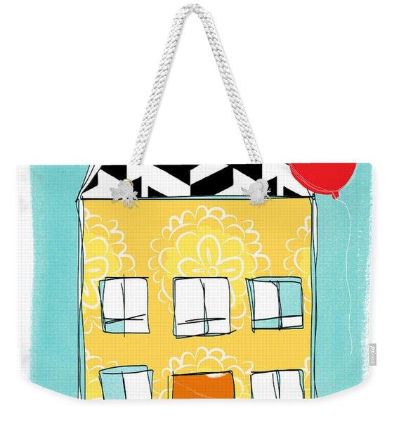 Yellow Flower House Weekender Tote Bag