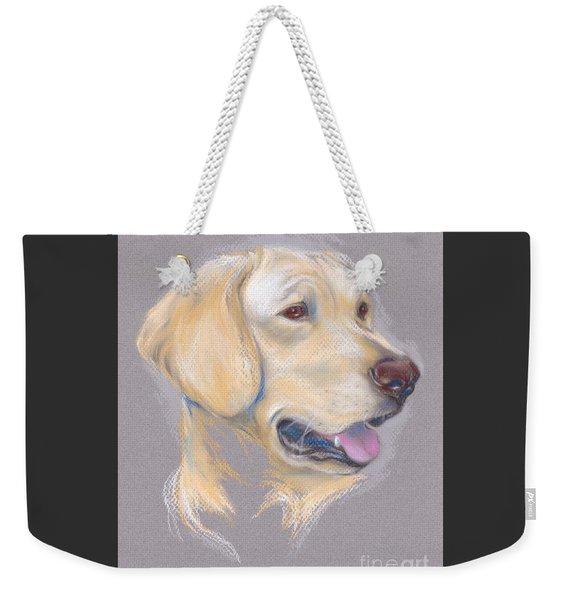 Yellow Labrador Retriever Portrait Weekender Tote Bag