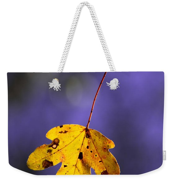Yellow Leaf Weekender Tote Bag