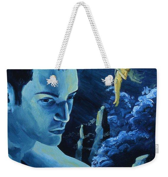 Yellow Moon Weekender Tote Bag