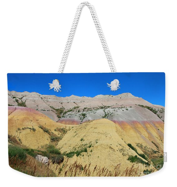 Weekender Tote Bag featuring the photograph Yellow Mounds Badlands National Park by Jemmy Archer