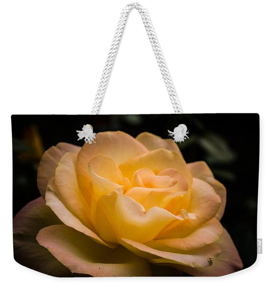 Weekender Tote Bag featuring the photograph Yellow Ray Of Sunshine by Jeff Folger
