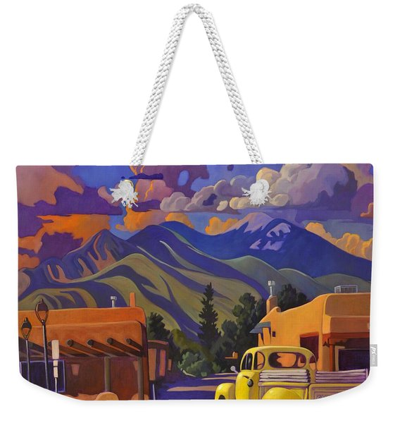 A Yellow Truck In Taos Weekender Tote Bag