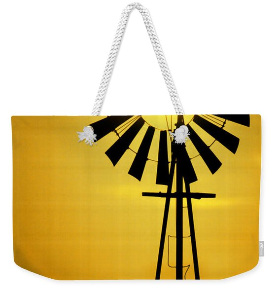 Yellow Wind Weekender Tote Bag