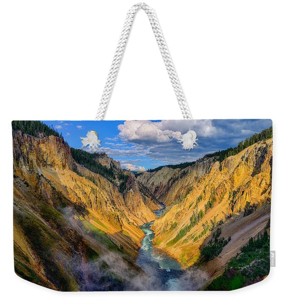 Yellowstone Canyon View Weekender Tote Bag