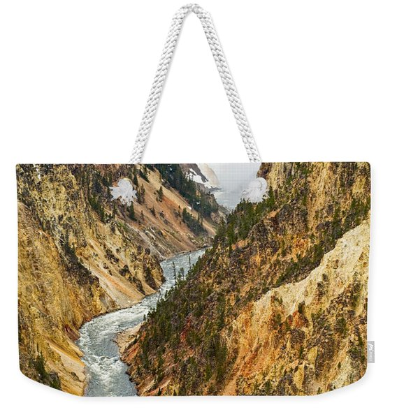 Yellowstone Falls From Artist Point Weekender Tote Bag