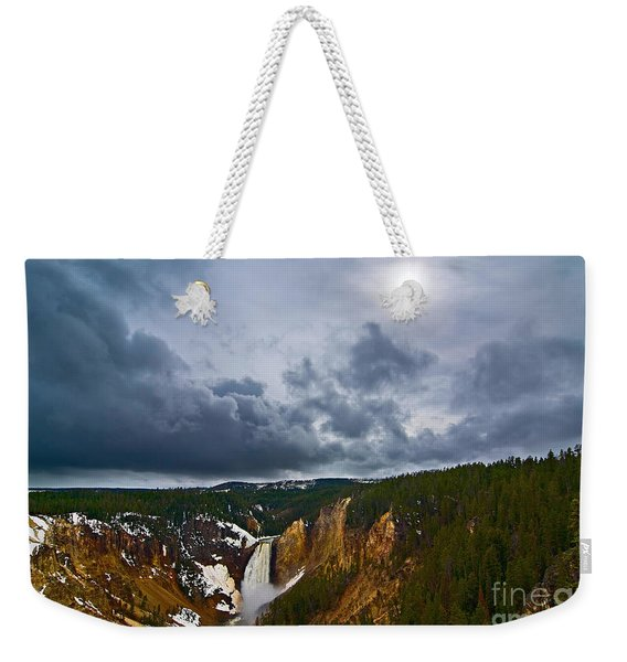 Yellowstone Storm Weekender Tote Bag
