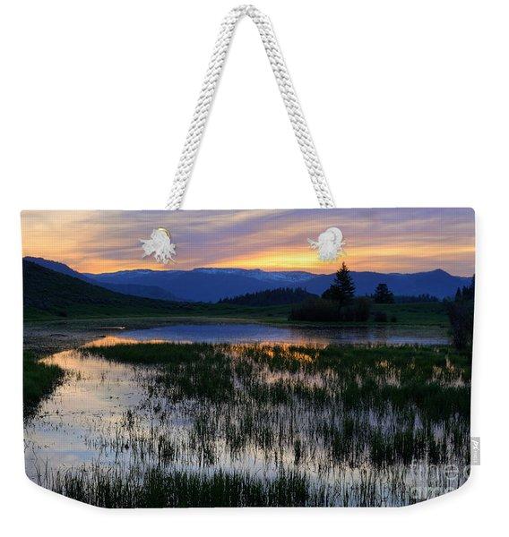 Yellowstone Sunrise Weekender Tote Bag