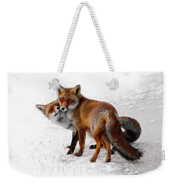 Yin Yang _ Red Fox Love Weekender Tote Bag