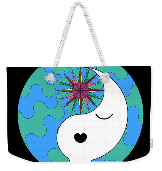 Yin Yang Crown 4 Weekender Tote Bag
