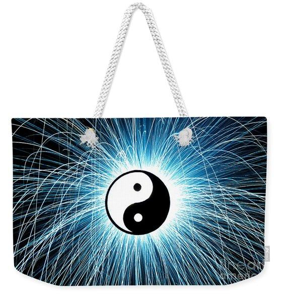 Yin Yang Weekender Tote Bag