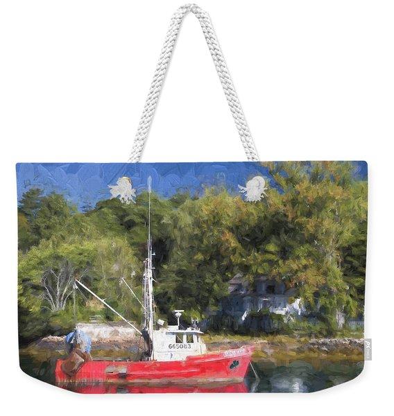York Harbor Maine Painterly Effect Weekender Tote Bag