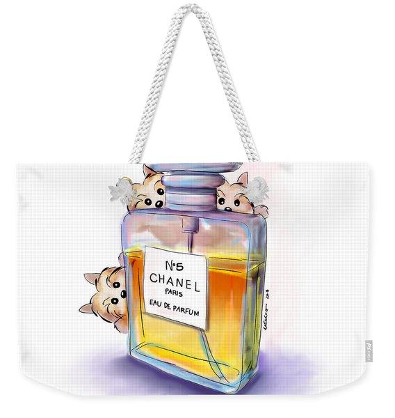 Yorkie Chanel Crazies Weekender Tote Bag