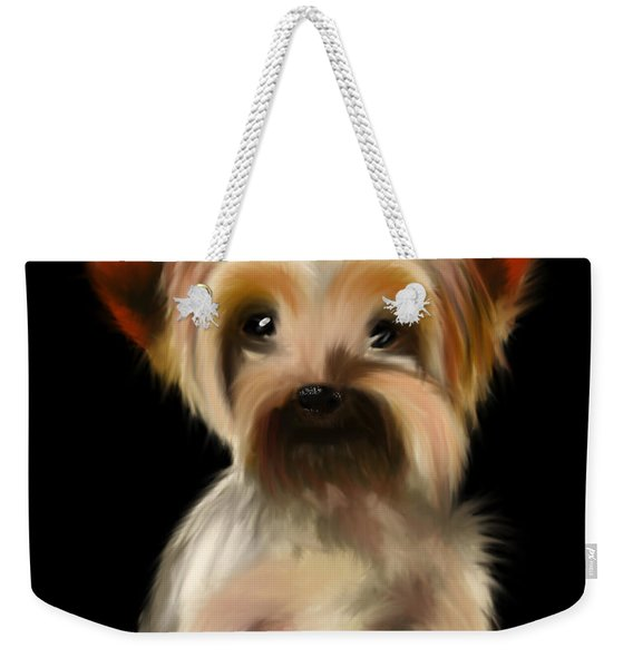 Yorkshire Terrier Pup Weekender Tote Bag