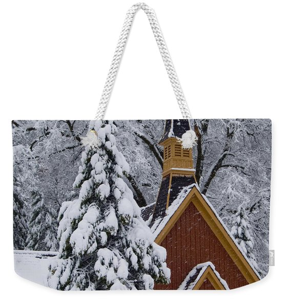 Yosemite Chapel Potrait Weekender Tote Bag