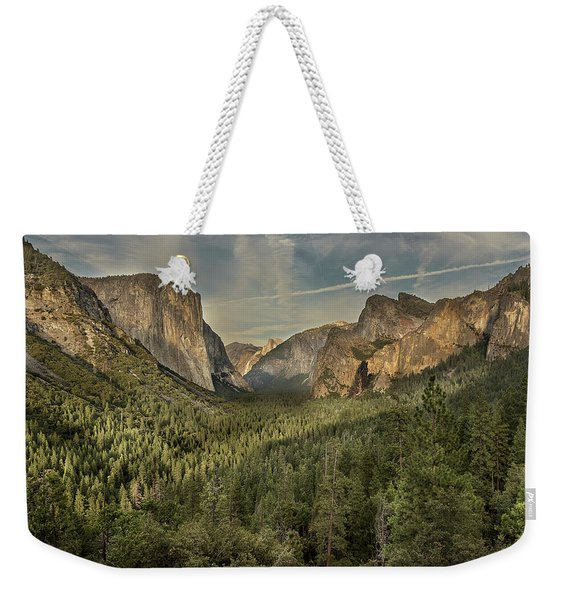 Yosemite Valley As Seen From Tunnel View Weekender Tote Bag