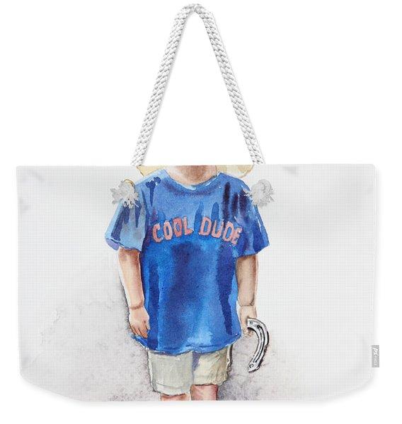Young Cowboy  Weekender Tote Bag