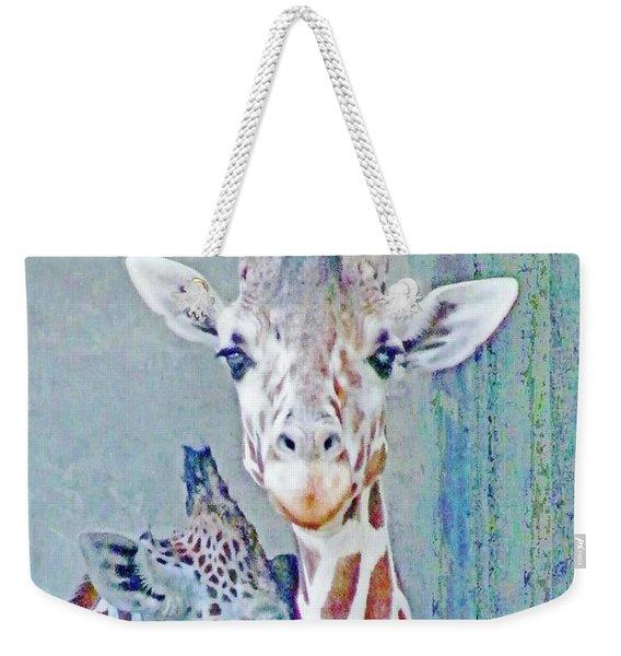 Young Giraffes Weekender Tote Bag