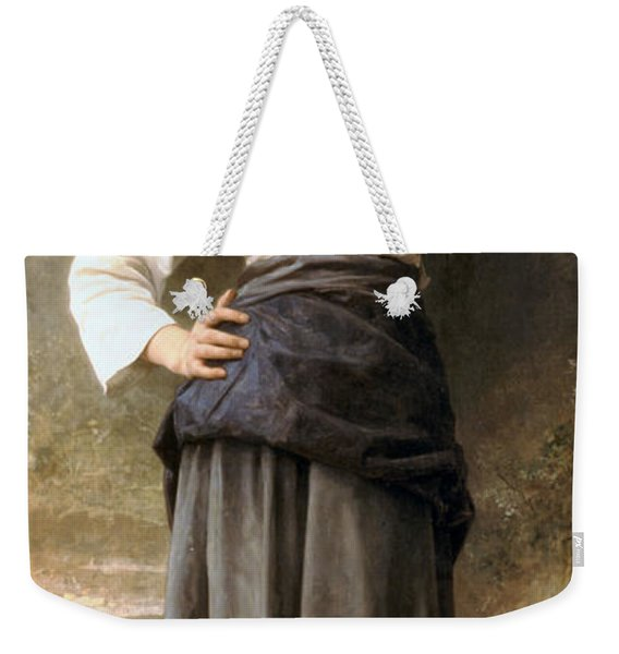 Young Girl Going To The Fountain Weekender Tote Bag