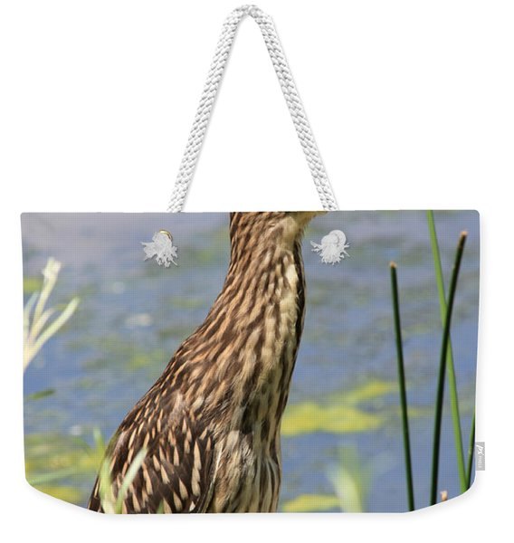 Young Heron Weekender Tote Bag