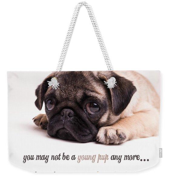 Young Pup Weekender Tote Bag